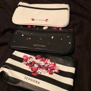 3 Sephora makeup bags new